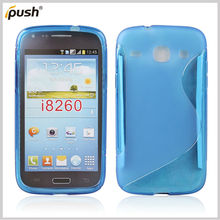 blue S line tpu case for Samsung Galaxy Core i8260