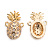 Fashion Copper  pineapple Charms for necklace Making, Double hook
