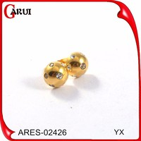 Alibaba express earrings design ear cuff fashion earrings single stone gold stud earrings