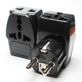 3 in 1 Travel Plug adapter Germany, France, Poland, South Korea, Holland, Europe standard converter plug