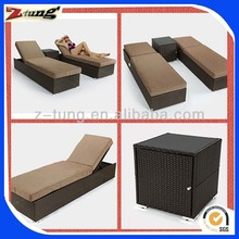 ZT-4013LT Outdoor garden rattan folding double sun lounger