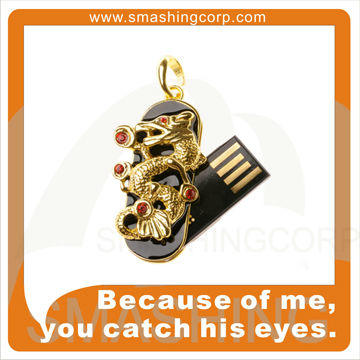 Factory direct price full capacity novelty jewelry usb in dragon shape usb 2.0