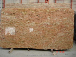 High Quality Polished India Golden Rosewood big Granite slab
