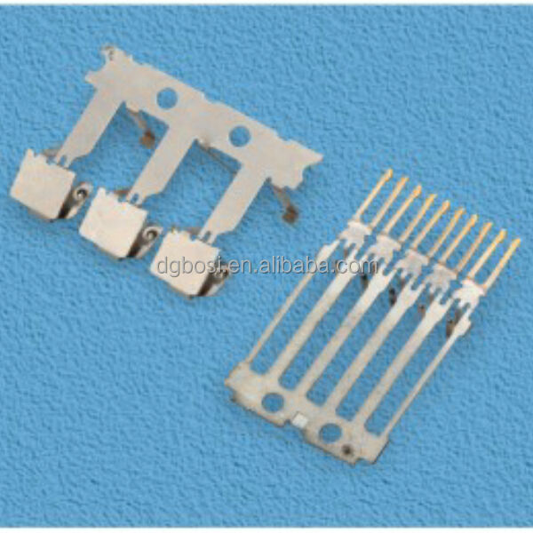 custom stamping punching pressed metal clip strip