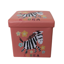 Printing Design Folding Storage Ottoman Stool