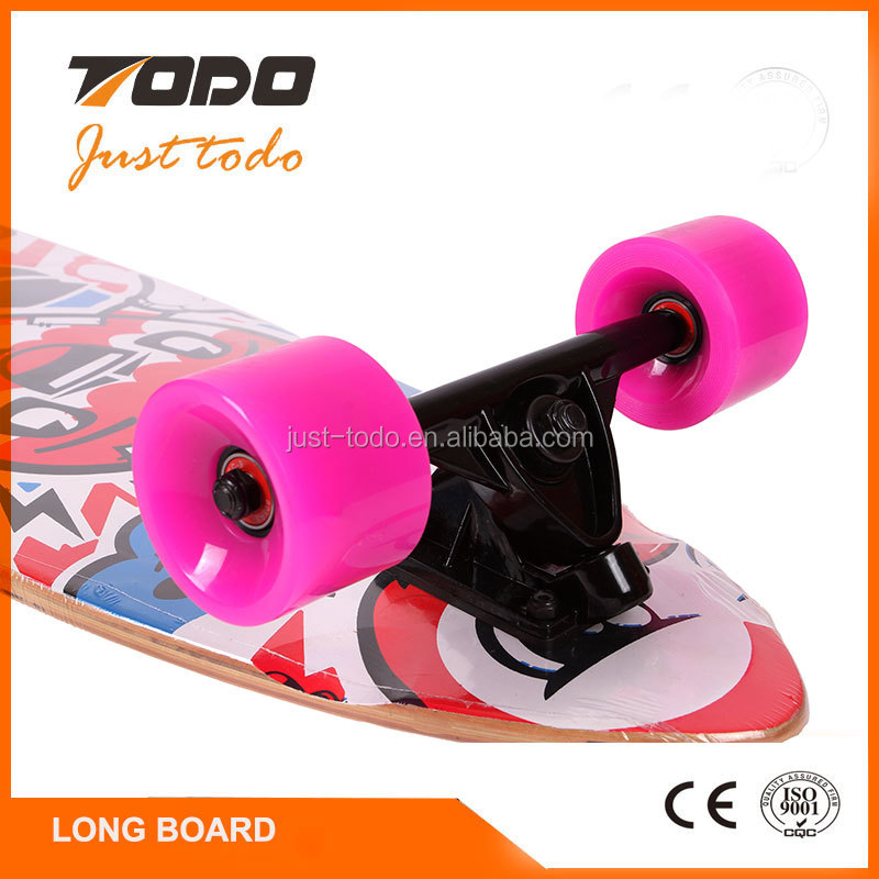 Custom high quality ABEC-5 bearing blank longboard deck