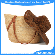 Hot Selling Graceful High Qulality Crochet Raffia Straw Bags for Beach