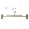White Anti-slip Plastic Pants Hanger With Chrome Sliver Hook