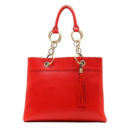 finest goat skin handbag antique ring shoulder strap Korean fashion ladies handbag