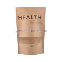 China Supplier plastic Brown kraft paper dried food packaging bag