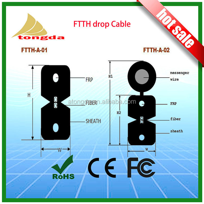 OTDR Fiber optical cable 2 core to 12 core Waterproof Single mode G652D