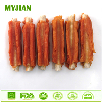 Rabbit Rib Rabbit Wrapped Munchy Stick Dog Dental Chews Dry Pets and Dogs Food Dog Training Treats OEM and Private Label