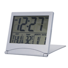 Large LCD Digital Table Flip Cover Battery Operated Calendar Clock