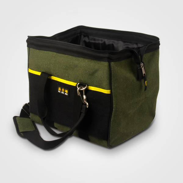 heavy-duty canvas tool bag with handle and should strap