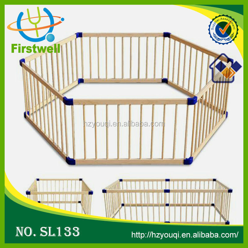 2015 New baby folding wooden fence/playpen for baby safe