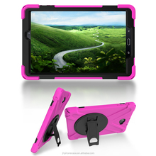 High class rotating stand silicone child proof tablet case for Galaxy Tab A P580 10.1inch Android tab case