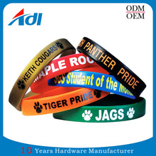 Custom Eco-Friendly PVC silicon cool material giveaway printed wristbands for men