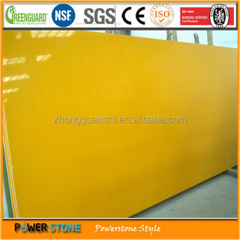Pure Yellow Color Quartz Stone