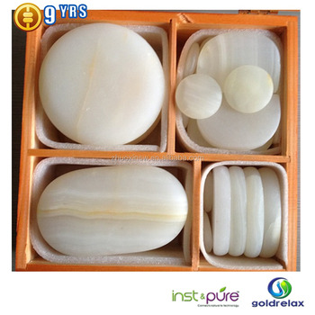 Salon & spa marble stone massage set
