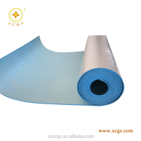 hot multiple layer aluminum foil laminated blue polyolefin foam thermal insulation