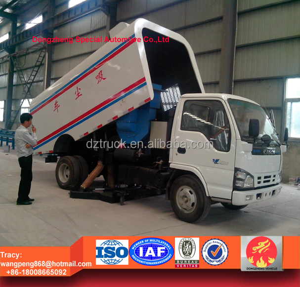 4cbm dustbin vacuum sweeper truck, road sweeper vehicles, sweep truck for sale