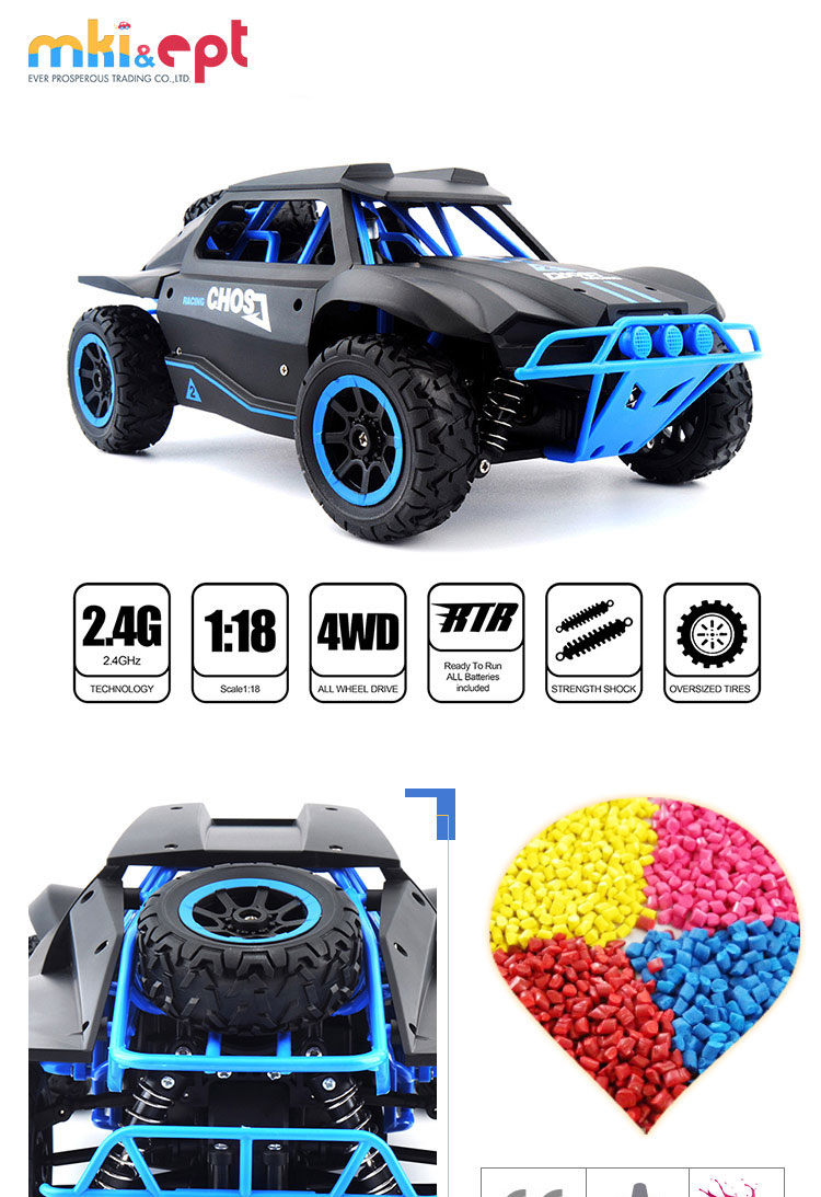 Heavy RC Car 2.4GHz High Speed 1:18 Racing Vehicle With Rechargeable Battery for Kids and Adults