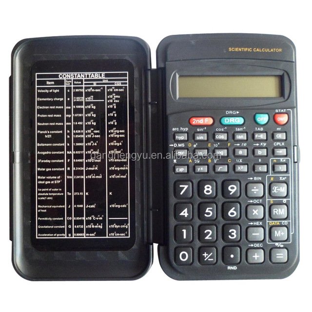 56 Kinds Of Scientific Examination Function Slip Cover 10 Digits Pocket Scientific Calculator