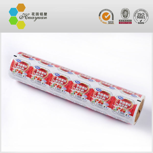 printed plastic and paper cup sealing film
