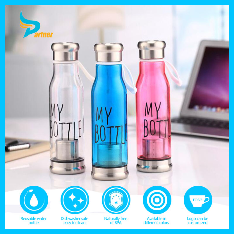 Hot Sale 2016 Car Durable AS Plastic Logo Customized Sport Drinking Water Bottle