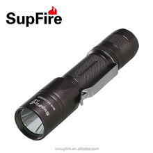 Strobe A6 Mini rechargeable high power LED flashlight with belt clip