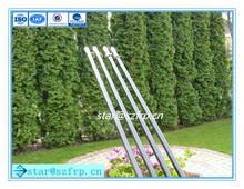 FRP/Fiberglass/GRP plastic flexible garden plant support stakes/rods/sticks