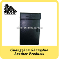 Selling Well Quality Leather Memo Pad Case with Pen Holder