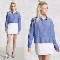 Woven Shirt for Women Formal Office Clothing Blouses Latest Shirt Designs for Women