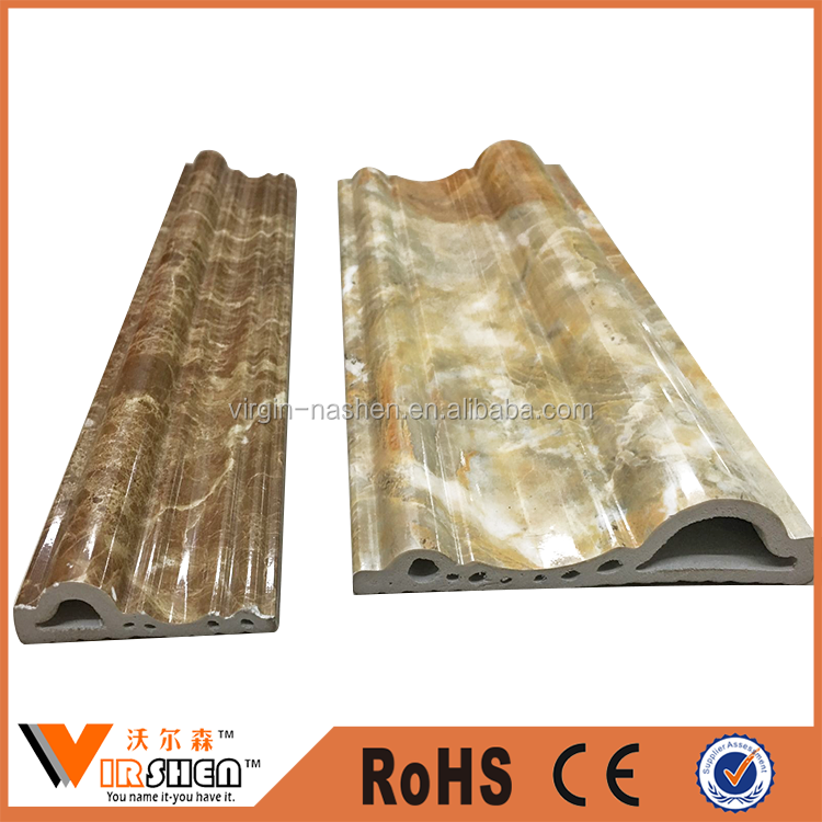 soft marble strong pvc skirting polystyrene mould ps baseboard for flooring colorful pu moulding for pvc ceiling cornice