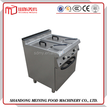 Trade assurance 2016 hot sale commercial potato chips chicken electric or gas double tank deep fryer machine