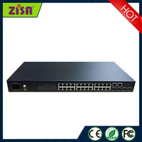 24ports SFP Gigabit optical Fiber switches and routers in networking