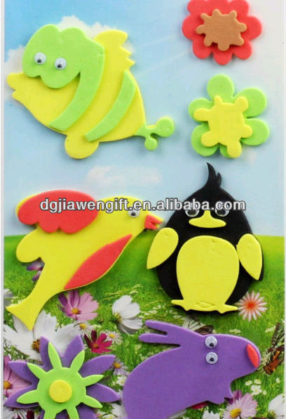 Birds Shapes EVA foam stickers