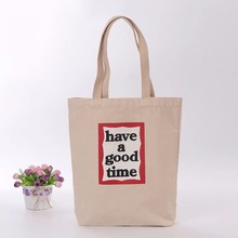 Customized Logo Print 10oz Canvas Cloth Tote Bag Wholesale