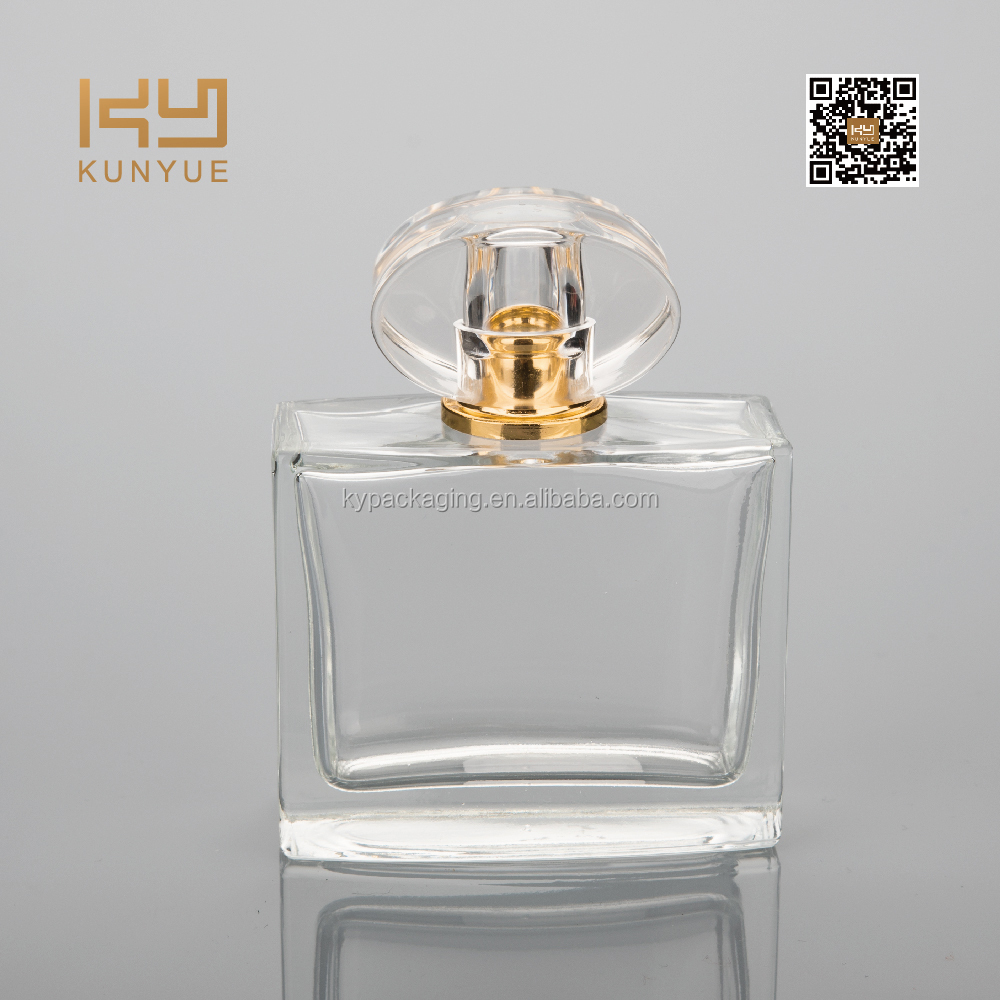 50ml high transparent lead free perfume glass bottle