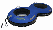 Inflatable Winter Snow Sled 1m size inflatable adult tube for 2 person