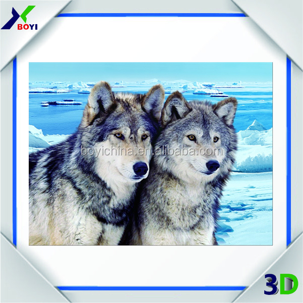 2016 China supplier OEM deep pet 3d effect animated pictures