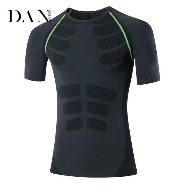 Popular Mens T Shirt With Short Sleeve Workout Sport Wear Men'S Tee Shirt