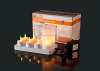 8pcs Rechargeable LED Candle holder