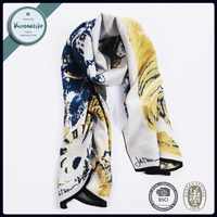 Vantextile Jacquard Yarn Dyed Rayon Stole Cotton Shawl Winter Warm Scarf 60*180CM