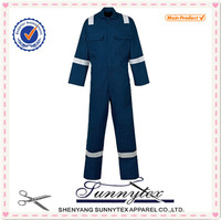 SUNNYTEX OEM workwear polycotton reflective men safety painters coverall 2015