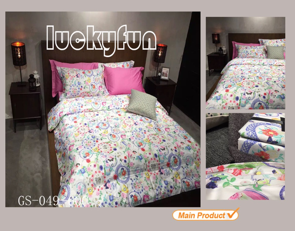 Cotton reactive printing bed sheet set/ bed sheet egyption cotton bedding/ comforter set