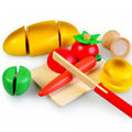 Best sale wooden kitchen cutting fruit toys set,Modern kitchen toy wooden fruit cutting toys for kids,Funny DIY kitchen set toys