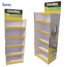 Best Price and New Design Cardboard T Shirt Display Stand Rack,Portable T-Shirt Floor Display Stand Rack