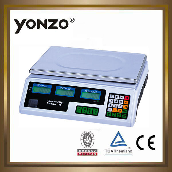 40kg LED or LCD display electronic price computing digital weighing scales small scale potato chips production line