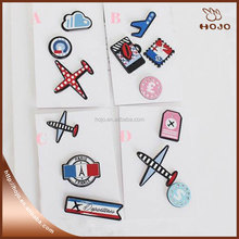 Hot sale Acrylic cartoon craft plastic brooch lapel pin for souvenir